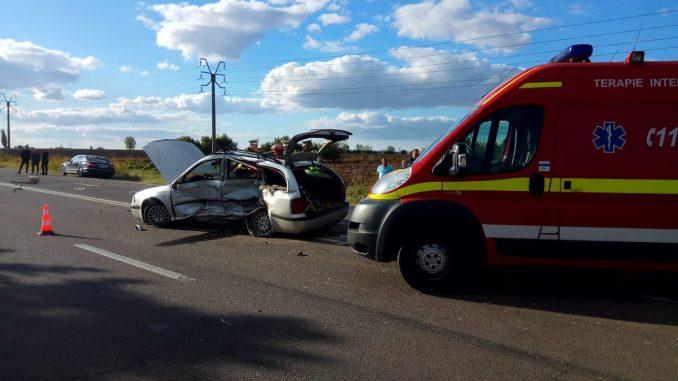 Accident grav pe drumul Constanța - Valu lui Traian. FOTO IPJ Constanța