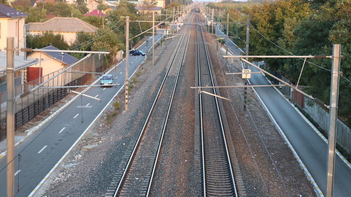 Calea ferată din Valu lui Traian. FOTO Adrian Boioglu / Valureni.ro
