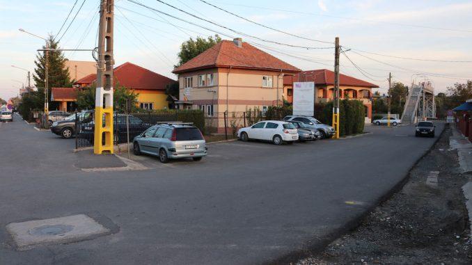 Strada Primăriei din Valu lui Traian. FOTO Adrian Boioglu / Valureni.ro