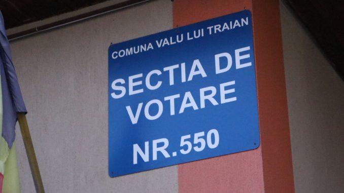 Secție de Votare din Valu lui Traian. FOTO Adrian Boioglu / Valureni.ro