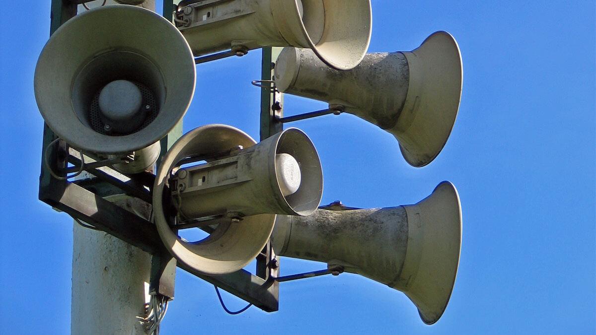 Sirene pentru alarmarea publică. FOTO Wikipedia/ Superbass