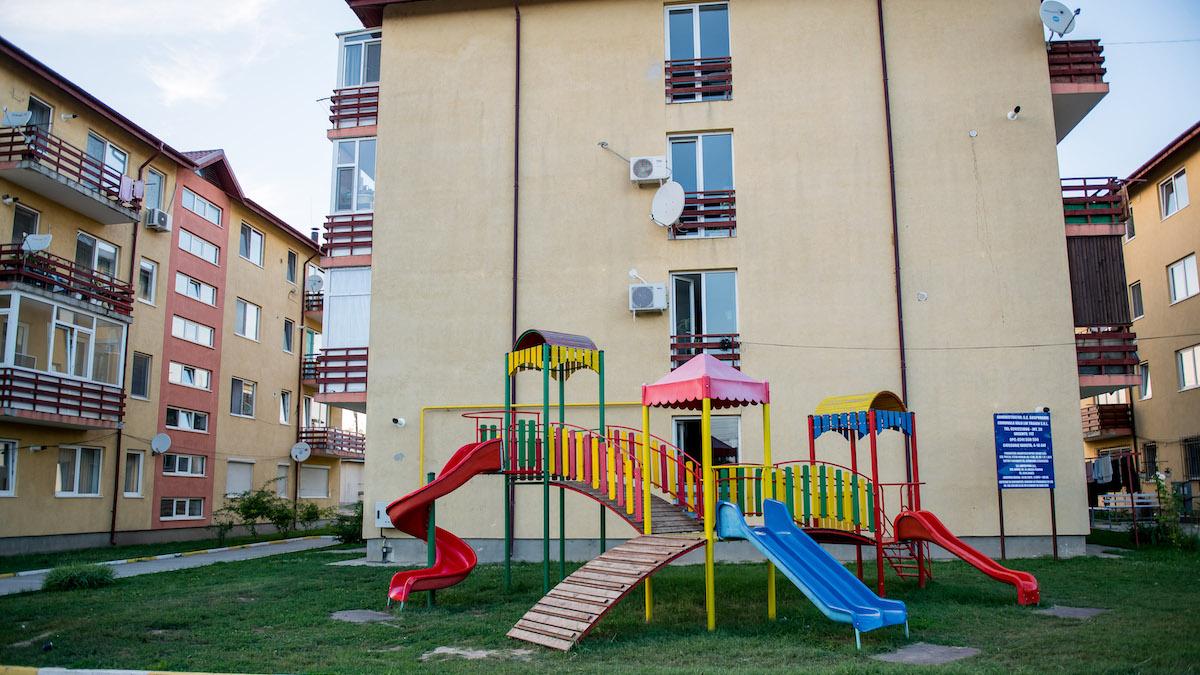 Loc de joacă în Valu lui Traian. FOTO PVT