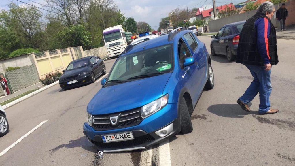 Accident la Valu lui Traian. FOTO Cristina Niță