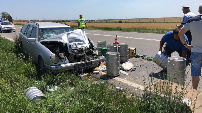 Accident pe drumul Constanța - Valu lui Traian. FOTO Adrian Boioglu